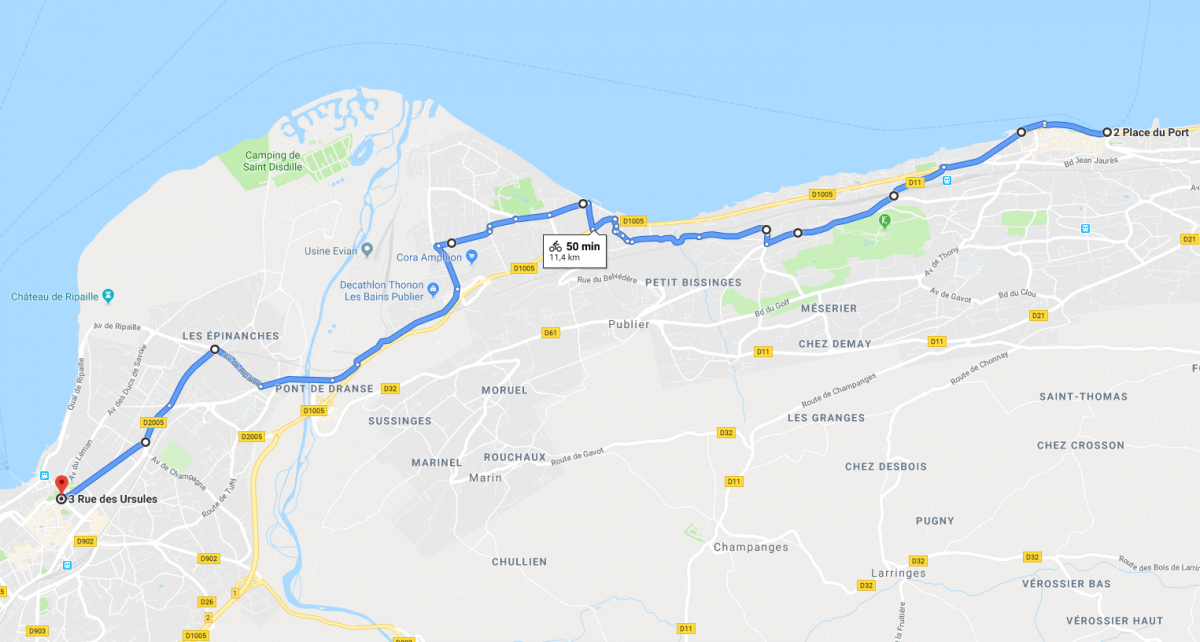 Velorution 2019 depart evian debarcadere 11h